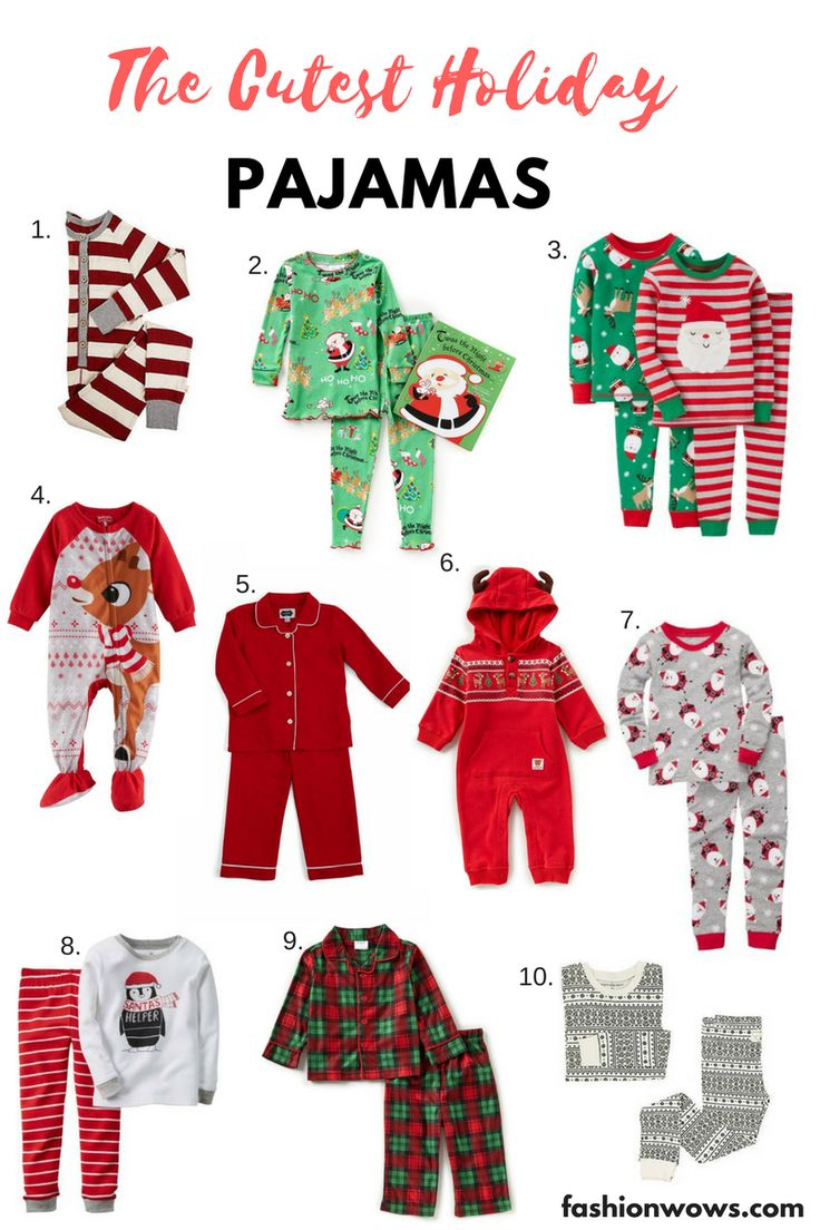 The Cutest Holiday Pajamas for Kids – FASHIONWOWS