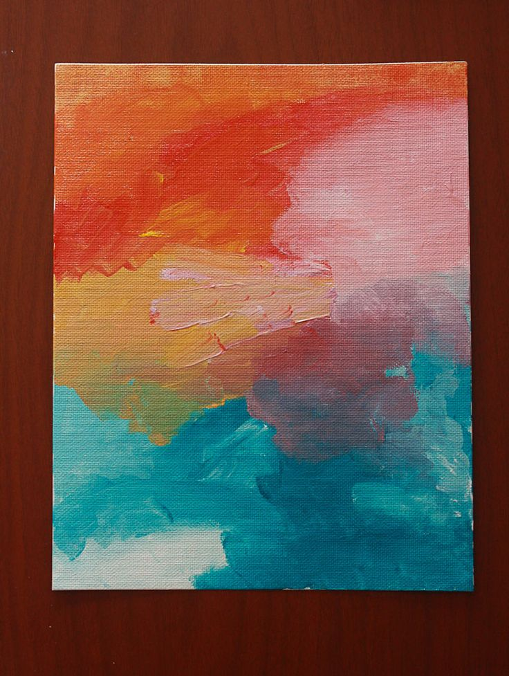 """Easy Abstract Painting DIY    ........ Mom always said it took 2 people to paint a picture.  One to do the painting, and one to shoot the painter when it was done.  I'd have a hard time letting this be """"done"""", but it is so pretty and so easy!"""