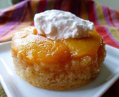 peach upside-down cake? yummmmmm...