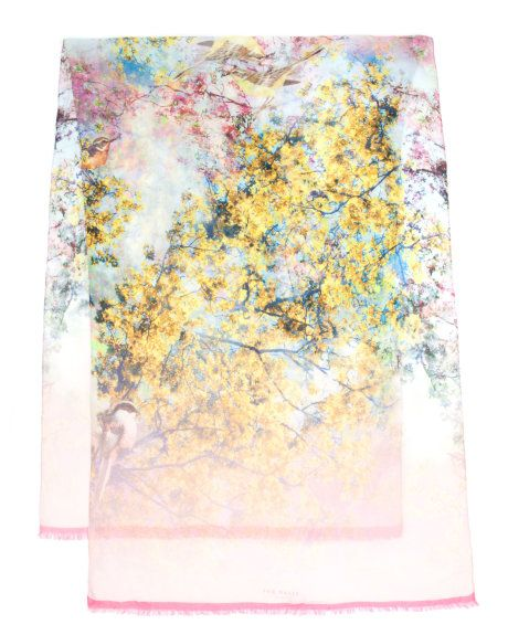 pretty trees print scarf   Ted Baker