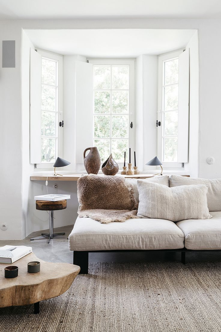 A Light Filled Summer House With A Soothing Color Palette Neutral Living Room Living Room Diy Cozy Living Rooms #relaxing #color #for #living #room