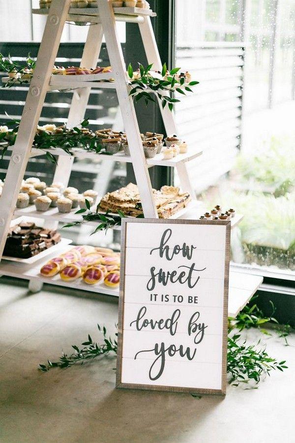 20 Super Sweet Wedding Dessert Display and Table Ideas