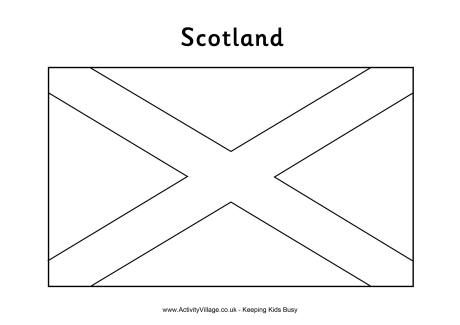 Scottish flag colouring page