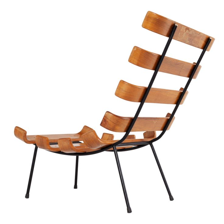 'Bone' chair by Martin Eisler and Carlo Hauner, rare solid wooden example