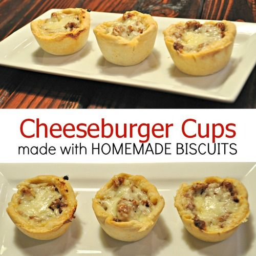 64 Easy Dinner Recipes For Two: Cheeseburger Cups With Homemade Biscuits