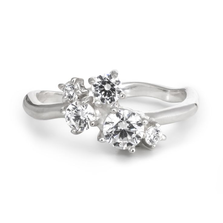 In ave with this Cluster Diamond ring by 27JEWELRY / YES ring for the real women / white gold