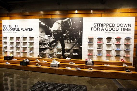 Converse Opens Flagship Store in Santa Monica, California | Wall textures,  Display and Walls