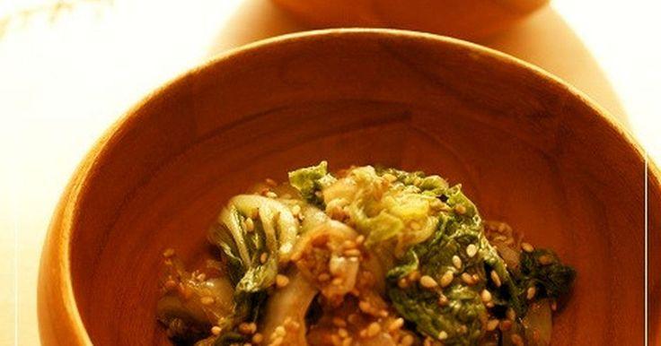白菜は鍋だけじゃない!ごま和えにしてもすっごく美味しいんです♪甘めの味付けでごはんがモリモリすすみます♡お弁当にも是非!