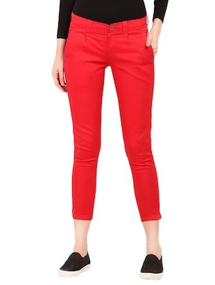 Check out what I found on the LimeRoad Shopping App! You'll love the Red Cotton Chinos Trouser. See it here http://www.limeroad.com/products/13733743?utm_source=10570b8bd1&utm_medium=android
