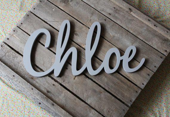 Nursery Wall Art, Baby Name Art, Nursery Decor, Name Wall Decal, Baby Name Letters, Nursery Art, Wooden Names
