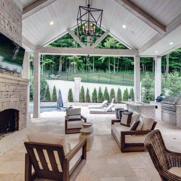 Top 50 Best Patio Ceiling Ideas Covered Outdoor Designs In 2020 Porch Design House Exterior Patio Ceiling Ideas