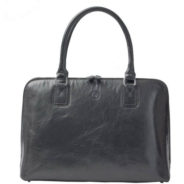 Maxwell Scott Bags - Luxury Italian Leather Women's Work Tote Bag Fiorella Night Black featuring polyvore, women's fashion, bags, handbags, tote bags, laptop tote bag, leather tote, utility tote bag, leather purses and hand bags