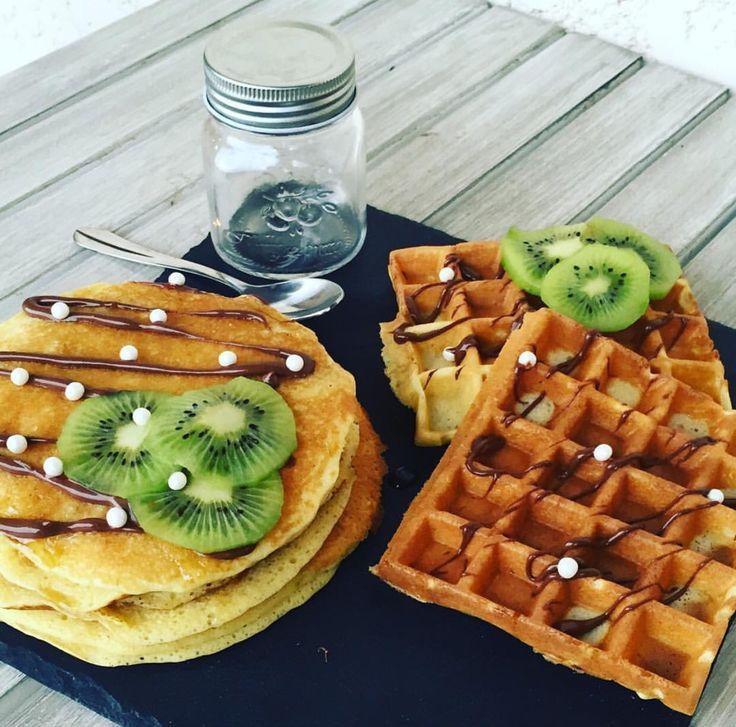 Petit déjeuner gourmand #fortunat #cooking #pancakes #waffles #cuisibe