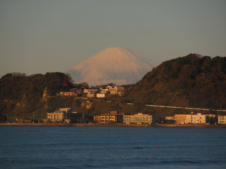 Mt. Fuji from Zaimokuza, Kamakura. Winter morning.