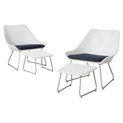 Threshold™ Holmquist 4 Piece Patio Sling Chat Furniture Set