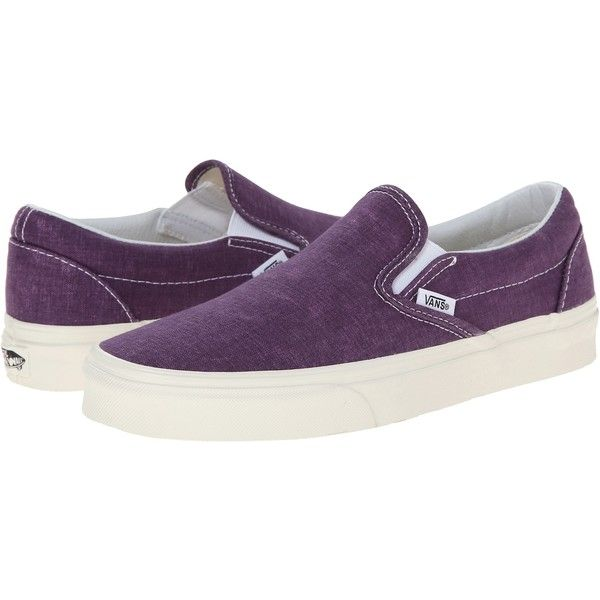 Vans Classic Slip-On Skate Shoes, Purple ($23) ❤ liked on Polyvore