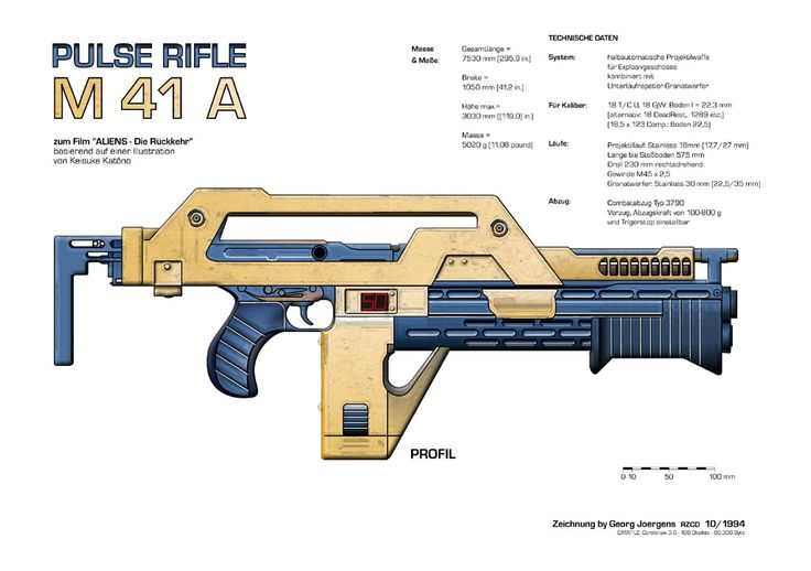 Alien - Ripley's M41a Pulse Rifle