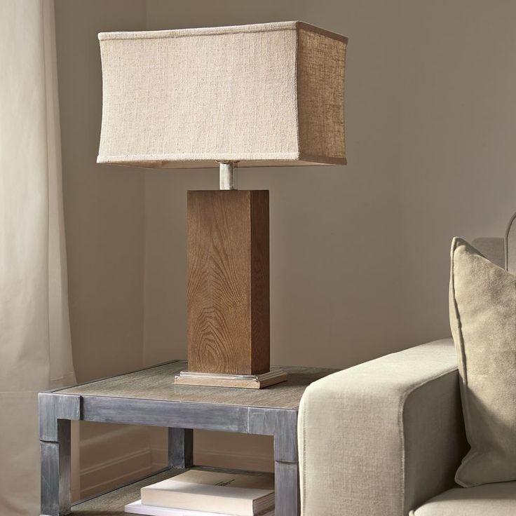 Atelier - Lampe de table à colonne carrée et abat-jour en lin/Lampes de table/Luminaires/Magasinez par produit/ATELIER Bouclair|Bouclair.com