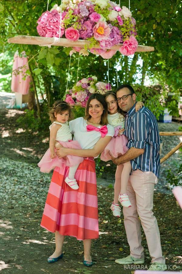 family portrait, outdoor Elewedding circus party, by Barbara Di Cretico