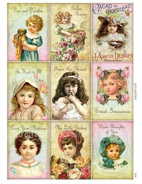 papers.quenalbertini: Vintage Girls Printables