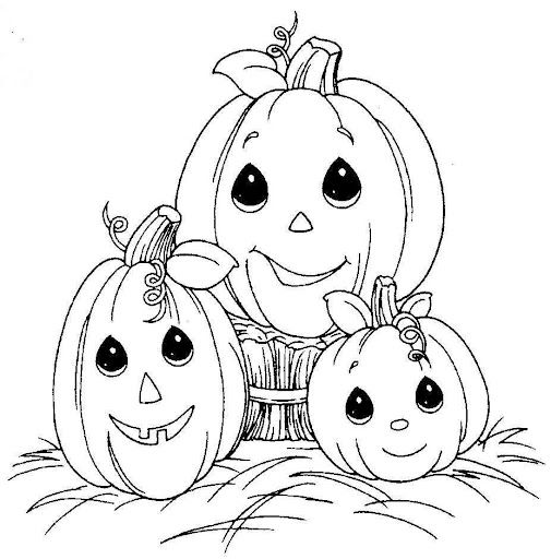 Fun Coloring Pages Pumpkin Halloween Precious Moments