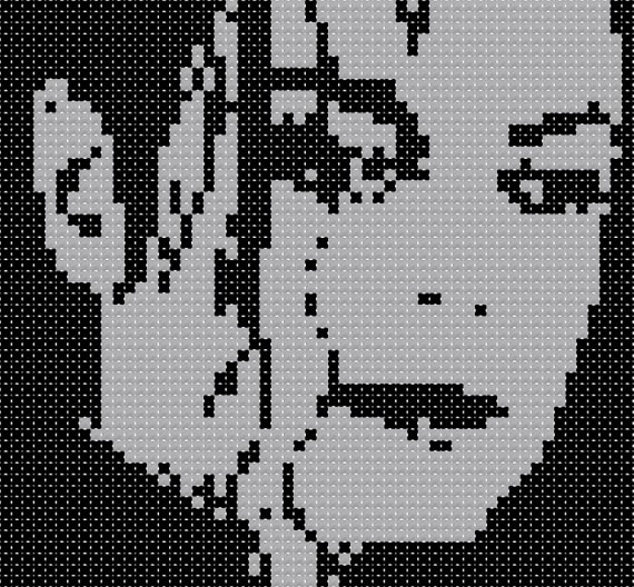 Free Michal Jackson Cross Stitch Pattern    Turned out awesome.