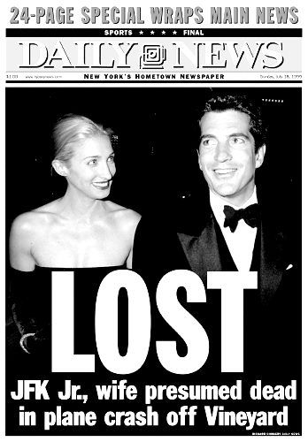 John F. Kennedy Jr., along with his wife and sister-in-law, die in a plane crash off Martha's Vineyard. #1999