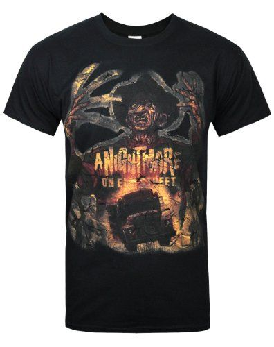 Official Nightmare On Elm Street Freddy Krueger Men's T-Shirt   Official Nightmare On Elm Street Freddy Krueger Men's T-Shirt This official Nightmare On Elm Street Freddy Krueger Mask men's black t-shirt features a large print across the front of the t-shirt in the traditional, dark and distressed effect style that the Nightmare On Elm Street franchise is known for. The iconic Freddy Krueger is seen in intense detail alongside an official Nightmare On Elm Street print finished with a..