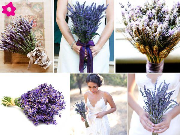 Bouquet de noiva de lavanda