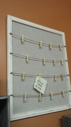 Rustic Note Center Old Frame Cork Board Wrapped In