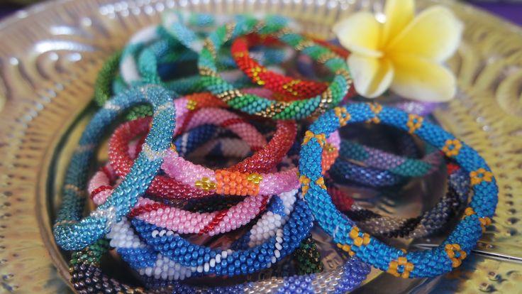 Beautiful colours - Indigo Heart Roll on bracelets www.indigoheart.com.au #rollonbracelets #style#Nepal