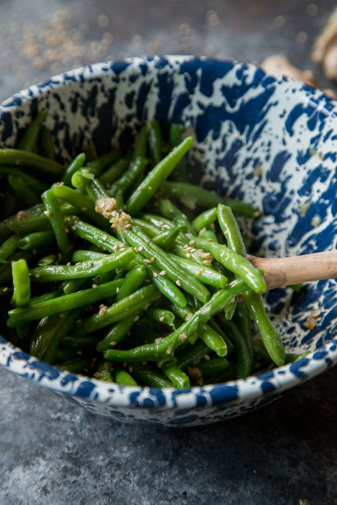 Sesame Ginger Garlic Green Beans - Country Cleaver