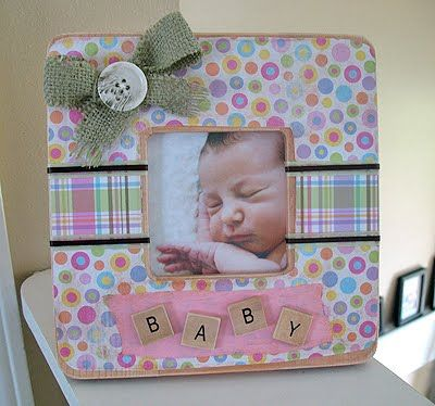 Baby Frame and Love Blocks: Baby Shower Gifts | Crafts by Amanda