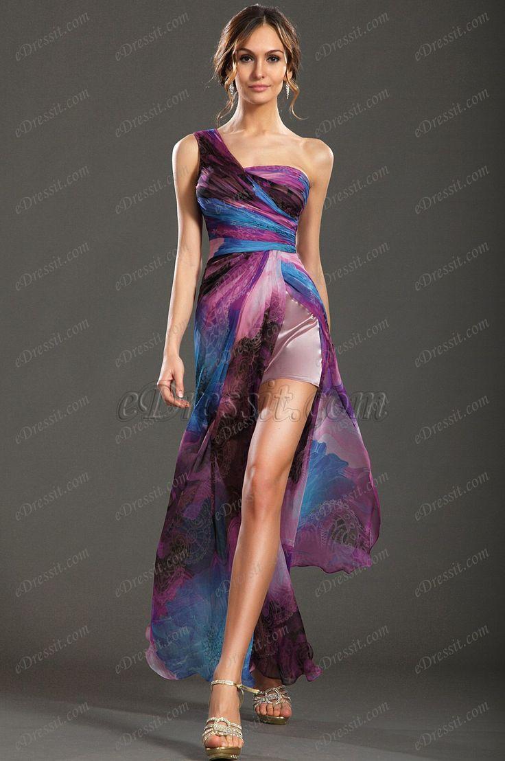 #edressitfloral #edressit #dresses #one_shoulder #evening_dress #printed_dress www.edressit.com