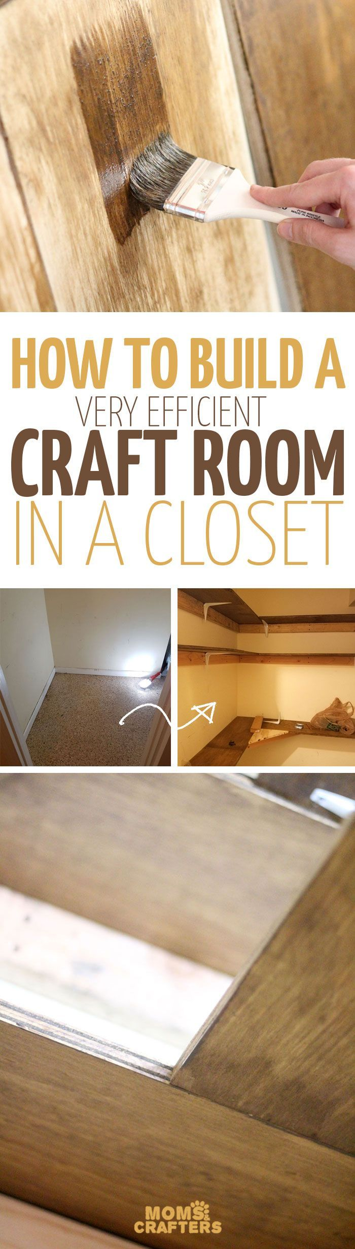 Have you ever considered builting a craft room in a closet? It's not as hard as you think! With the right plan, you can make a very functional craft area in a tiny space. It's a DIY home project you don't want to miss!