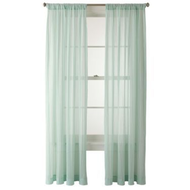 Jcp Home Lara Rod Pocket Curtain Panel Jcpenney Apartment Decor Pinterest Curtain
