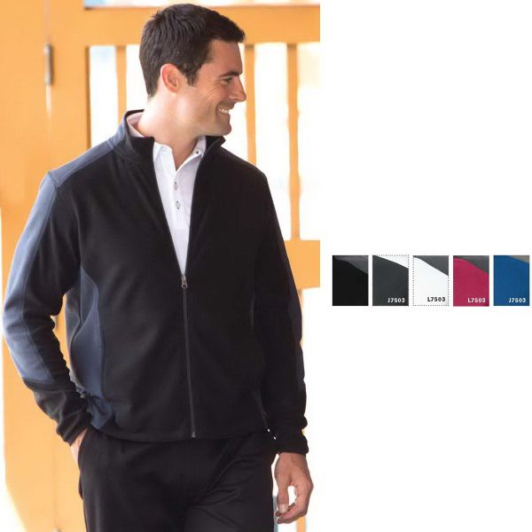 Adult Coal Harbour (R) Everyday Fleece Color Block Jacket. 7.6-oz., 100% polyester anti-pill micro fleece. Reverse coil zipper at center front. Contrast color at side panels and shoulder. Front pockets with polyester tricot lining. Blank.