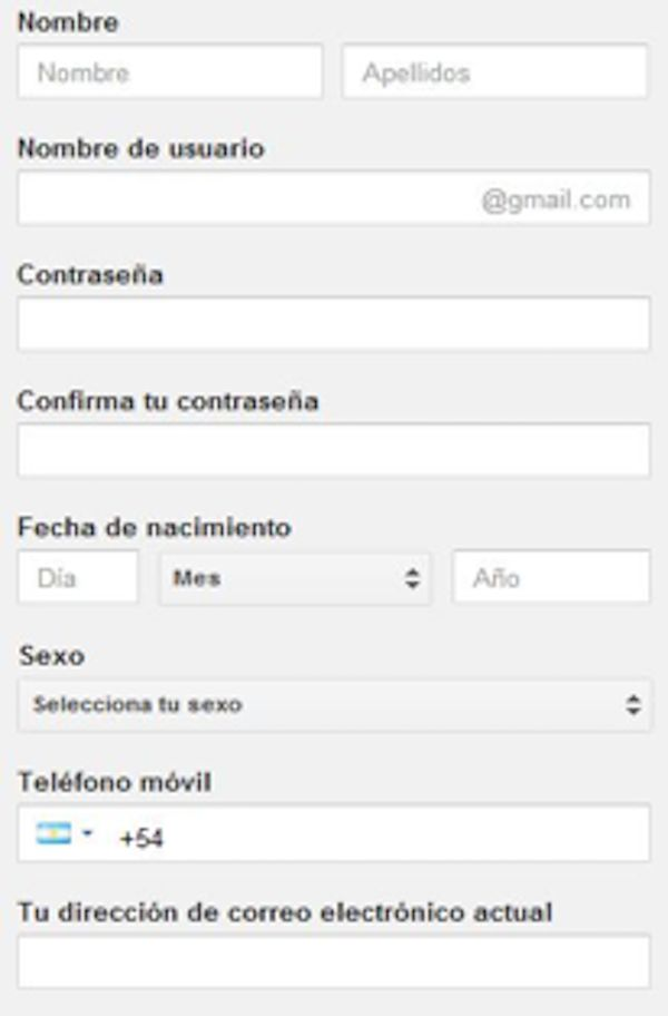 Gmail registrarse gratis