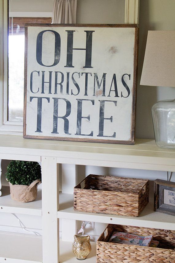 READY TO SHIP  Oh Christmas tree sign by TheHouseofBelonging