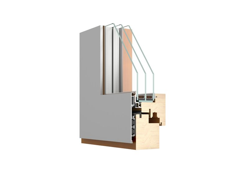 A modern, square edged triple glazed tilt & turn window - the Puro http://www.olsenuk.com/products/timber-aluminium-windows/puro