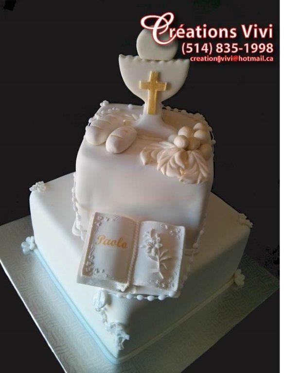 G teau de premi re communion g teaux de mariages et for Decoration gateau 3 chocolat