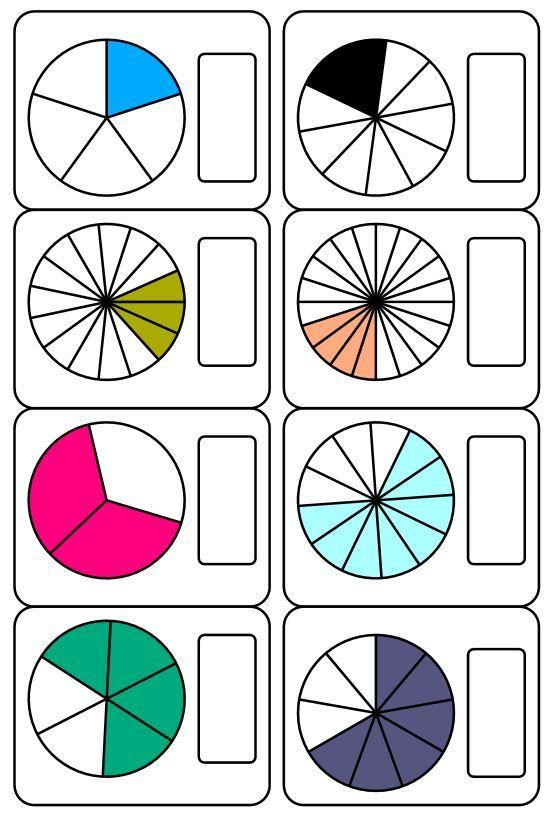 Os comparto un nuevo material que he creado para trabajar las fracciones. En él encontraréis 28 cortas más una serie de plantillas de fraccines en