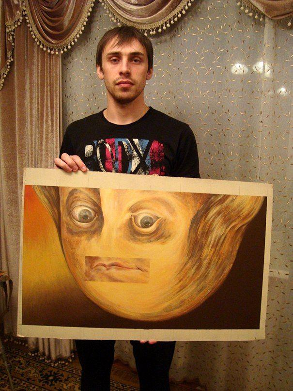 """Продается картина """"Взгляд на Россию сегодня"""",автор Глазычев Е.,двп акрил,цена не установлена..."""