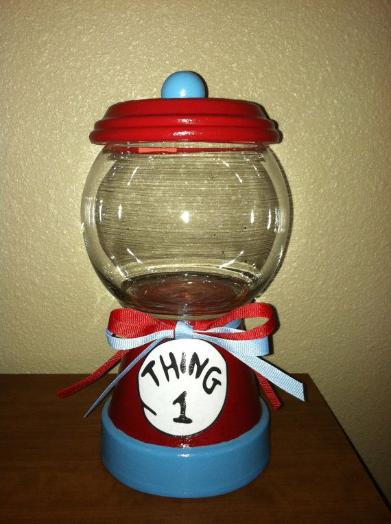 Dr Seuss Thing 1 Candy Jar by designzbyvalerie on Etsy, $15.00