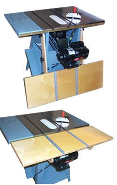 Fold Down Table Saw Extension