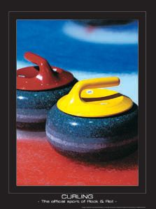 CURLING Poster - The Official Sport of Rock Roll - SportsPosterWarehouse.com