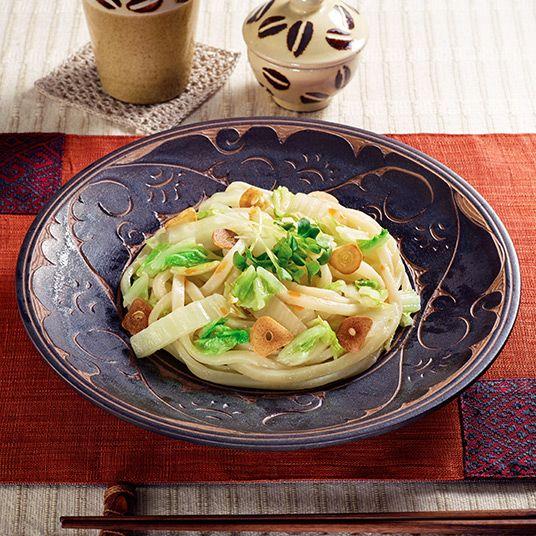 白菜の塩ラー油うどん  二十四節気うどんメニュー 小雪 しょうせつ 【テーブルマーク】