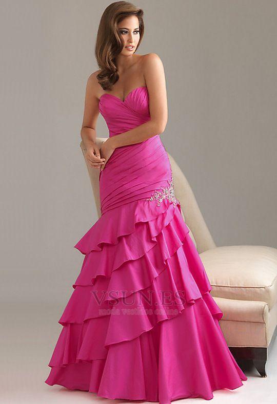 Vestido+de+noche+Corte+Sirena+Espalda+medio+descubierto+Gasa+Cintura ...