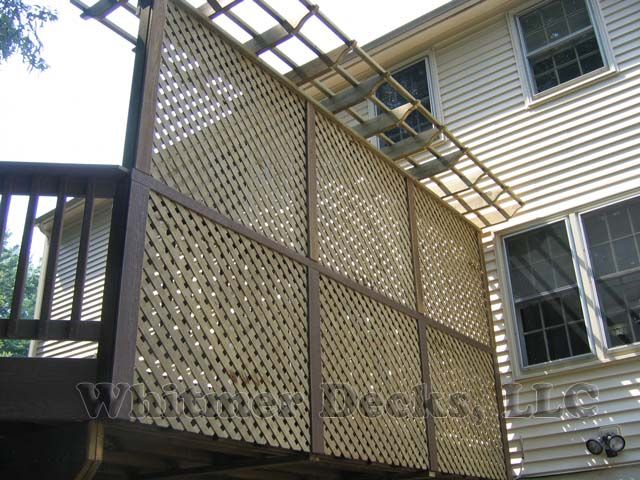Lattice privacy deck panel.Gardens Ideas, Decor Ideas, Decks Ideas, Design Decks, Decks Privacy, Decks Panels, Decks Outdoor, Gardens Outdoor, Decks Stuff