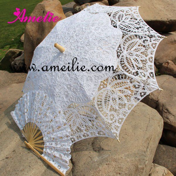 Aliexpress.com : Buy Free Shipping Lace Fan And Wedding Umbrella Lace Parasols from Reliable lace parasols suppliers on Amelie Wedding Boutique Shop